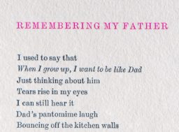 Remembering my Father Reversible Poem